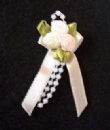 Peach, Cream & Ivory Ribbon Rose Posies - Pkt 10